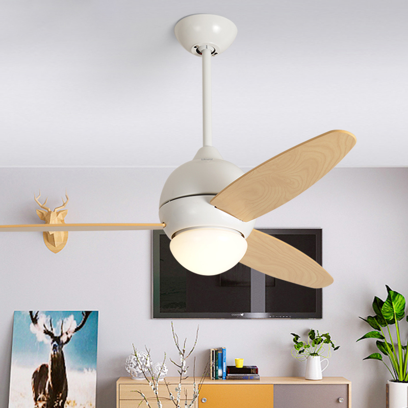 Ceiling Lights & Fans Modern Simple Colors Ceiling Fan Lamp Macaron Kids Room Living Room Led Iron Art Fan Lamp Colorful Fan Leaves Deco Pendant Lamp