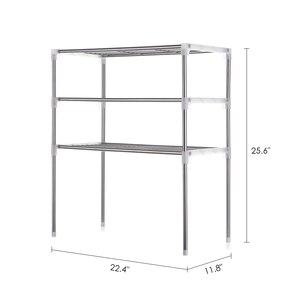 Image 2 - Unidade 2/3 Camada de Multi funcional Mesa Prateleira De Armazenamento De Cozinha Rack de Microondas Prateleiras Do Banheiro Estante de Livros