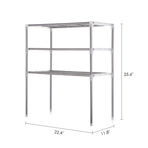 Image 2 - Unit 2/3 Tier Multi functional Kitchen Storage Shelf Table Rack Microwave Oven Shelving Bathroom Book Shelf