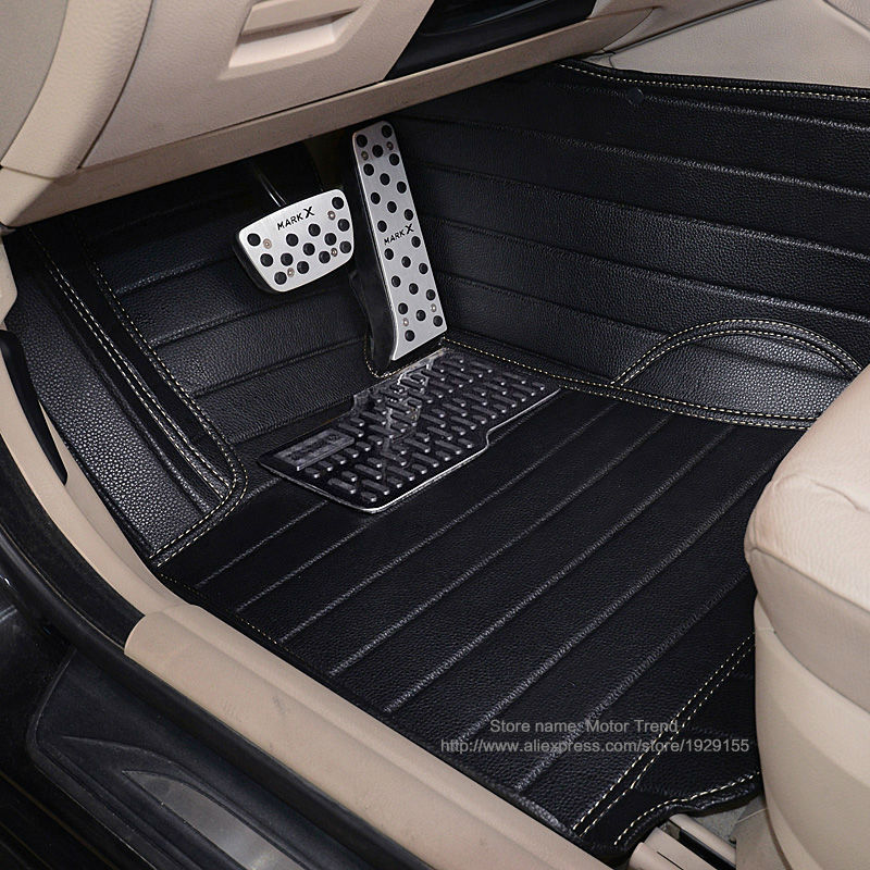 Custom fit car floor mats for Ford Focus MK2 MK3 Edge Escape Kuga Fusion Mondeo Explorer Ecosport 3D car-styling carpet liners custom fit car floor mats for ford edge escape kuga fusion mondeo ecosport explorer focus fiesta car styling carpet liner ry39