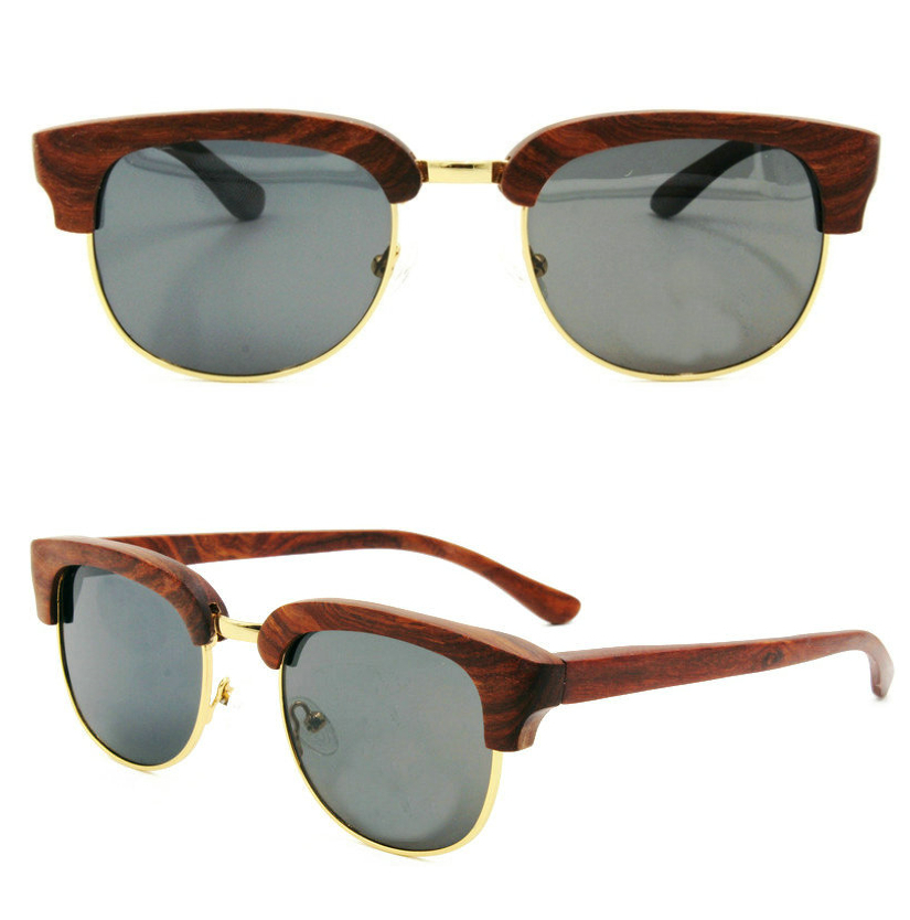 4d49731408b 2015 Fashion Bamboo Sunglasses Men Wood Sunglasses Half Frame Round Sun  glass Women Brand Designer With Retail Package S018-in Sunglasses from  Apparel ...
