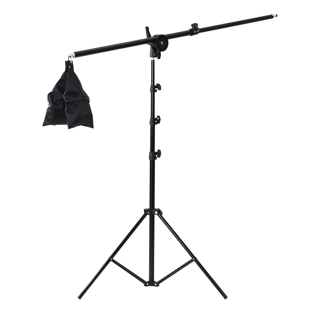 Photographic Equipment Photo Studio Light Kit Boom Arm Stand Tripod With 200CM Light Stand 75-135CM Light Stand Cross Arm