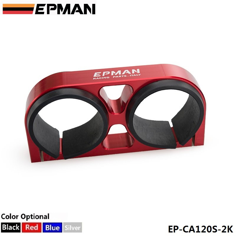 TANSKY - EPMAN Billet Aluminum 60MM Dual Fuel Filter Fuel Pump Bracket/Clamp /Mount For 044 Fuel Pump For BMW 520i EP-CA120S-2K