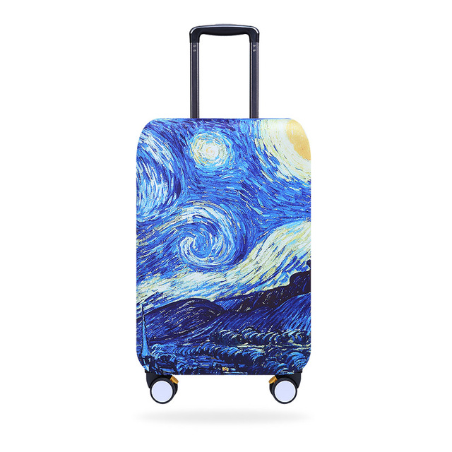 Elastic Starry Night Design Luggage Covers Travel Suitcase Dustproof Washable Anti-Scratch Protector 18/20/21/22/24/26/28/30/32