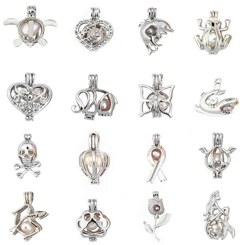 Жемчужная клетка ювелирных изделий клетка Шарк медальон кулон эфирное масло медальон со светорассеивателем для устричная жемчужина для женщин и мужчин
