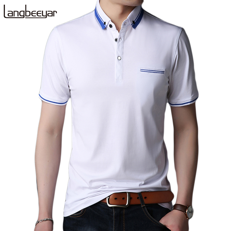 2019 New Fashion Brands Summer   Polo   Shirt Men Turn Down Collar Slim Fit   Polo   Shirts Short Sleeve Men Breathable Men Clothes