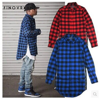 Men Flannel Plaid Shirt 100 Cotton 2018 Spring Autumn Hip Hop Long Sleeve Shirt Soft Comfort