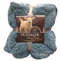 Svetanya Luxuoso Grande Quente Grosso Sherpa Cobertor Lance Colcha Reversível Microfibra Fuzzy Durante Toda a Temporada de Manta para Cama ou Sofá
