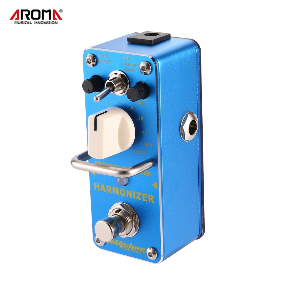 AROMA AHAR-3 Harmonizer Harmonist/Pitch Shifter Electric Guitar Effect Pedal Mini Single Effect with True Bypass sews aroma aov 3 ocean verb digital reverb electric guitar effect pedal mini single effect with true bypass