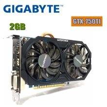 Gigabyte placa de vídeo original gtx 750 ti 2gb 128bit gddr5 placas gráficas para nvidia geforce gtx 750ti hdmi dvi usado vga gtx750ti