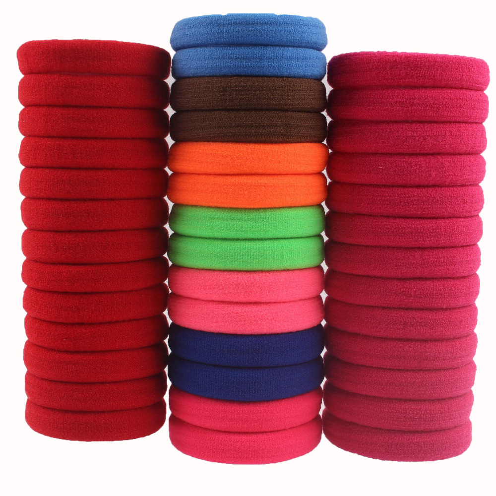 40pcslot Rubber Bands Hair Elastics Accessories Girl Women