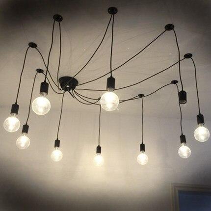 Modern Restaurant Lighting Multiple Arms Edison Led Bulb Pendant Chandelier Vintage Loft Bar Bedroom Art Lamp In Lights From