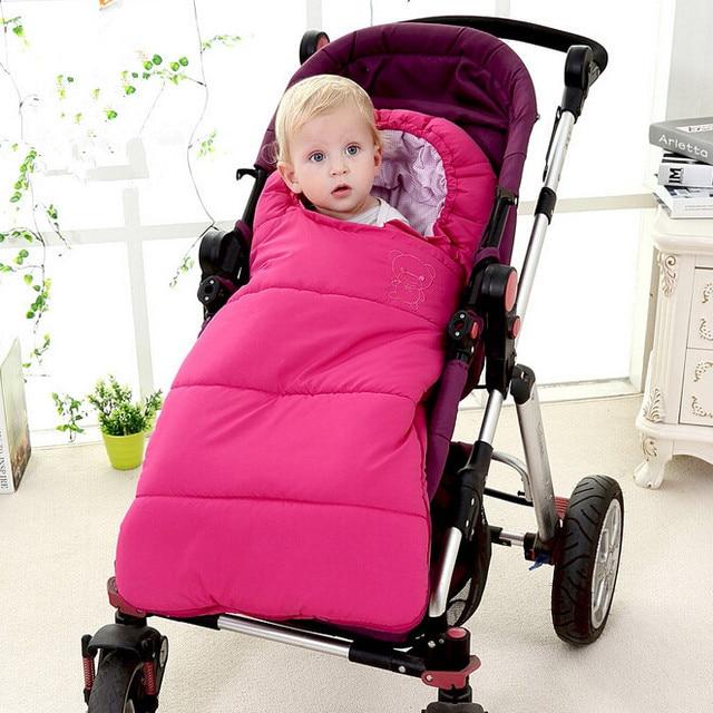 Baby sleeping Bag winter Envelope for newborns sleep thermal sack Cotton kids sleepsack in the carriage wheelchairs