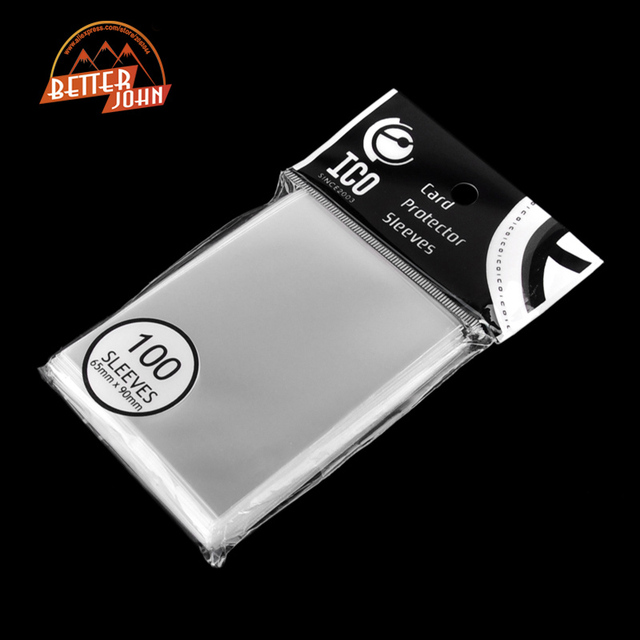 100pcs/pack Cards Protector 65*90mm Card Sleeves Magic of Three Kingdom Football Star Card Transparent Unsealed Game Sleeves