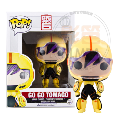 NEW 2014 Genuine FUNKO POP 10cm <font><b>Big</b></font> <font><b>Hero</b></font> <font><b>6</b></font> <font><b>GO</b></font> <font><b>GO</b></font> <font><b>TOMAGO</b></font> <font><b>action</b></font> <font><b>figure</b></font> Bobble Head Q Edition new box for Car Decoration