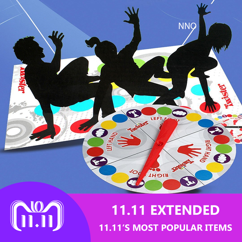 Indoor Fun Twister Toy For Children Adult Sports Game Moves Interactive Group Educational Toys Classic Spot Body Twister цена