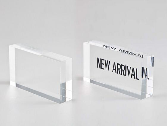110*20*55mm New Arrival Letter Stand Acrylic Sale sign signage Block Advertising Display Rack Stand Label Desktop Stand Label