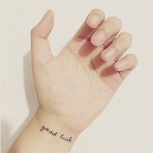 (Min Order $0.5) Waterproof Temporary Tattoo Tatoo Henna Fake Flash Tattoo Stickers Taty Tatto GOOD LUCK SYA028