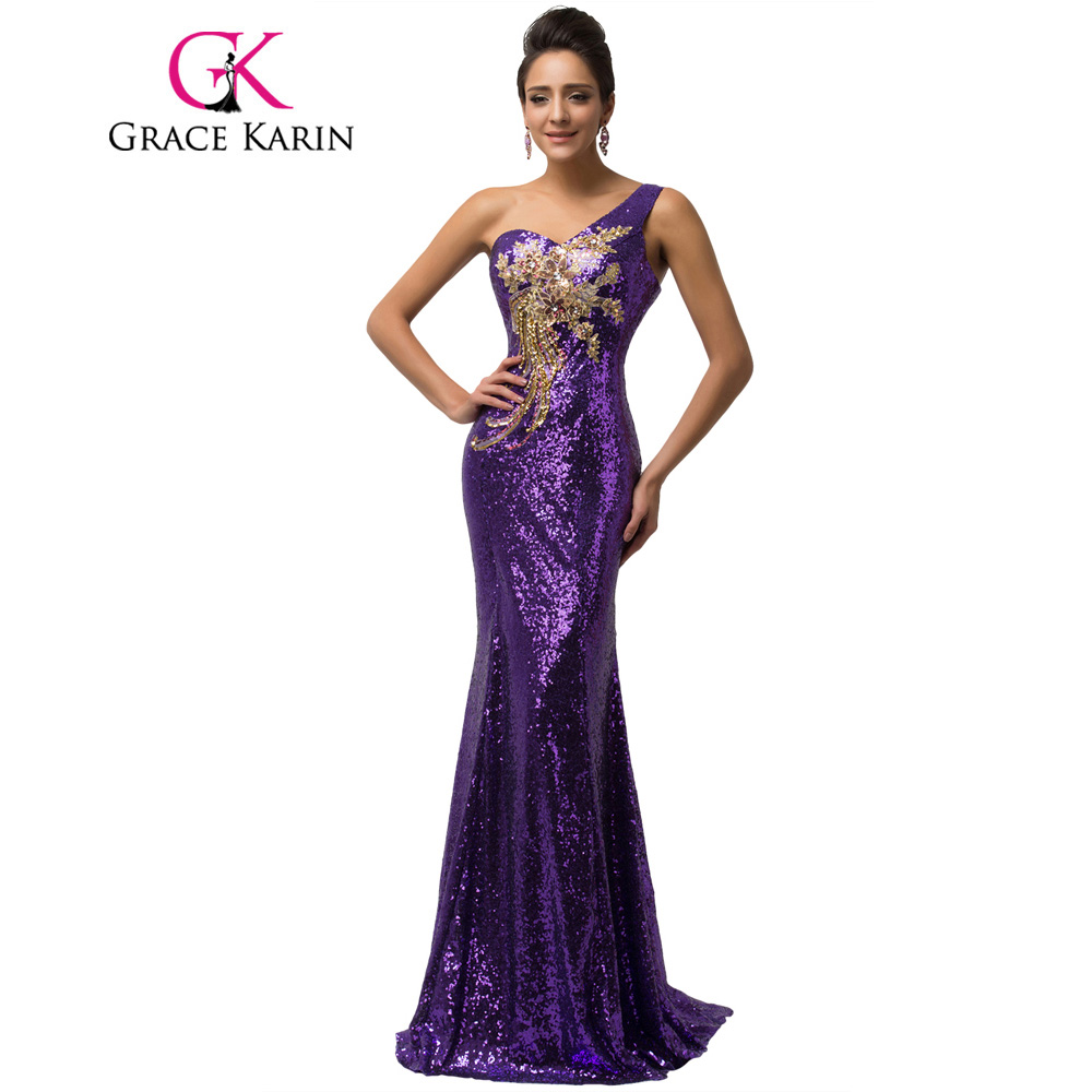 Grace Karin Prom Dress Long Sheath Bandage Luxury Sequins Evening ...