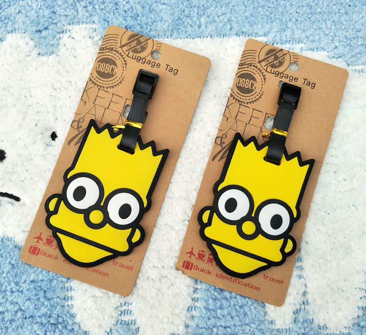 IVYYE The Simpsonss Anime Travel Accessories Luggage Tag Suitcase ID Address Portable Tags Holder Baggage Label New