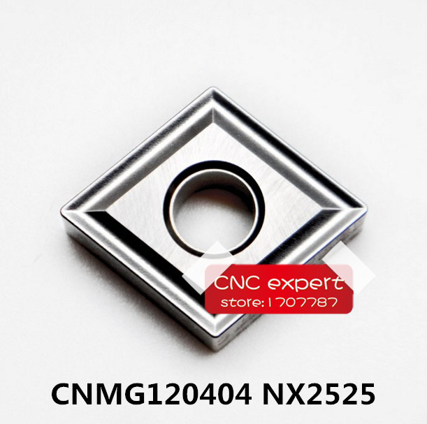 10PCS <font><b>CNMG120404</b></font> NX2525/CNMG120408 NX2525. cutting blade, turning tip,Suitable for MCLNR MCKNR MCBNR MCMNN Series Lathe Tool image