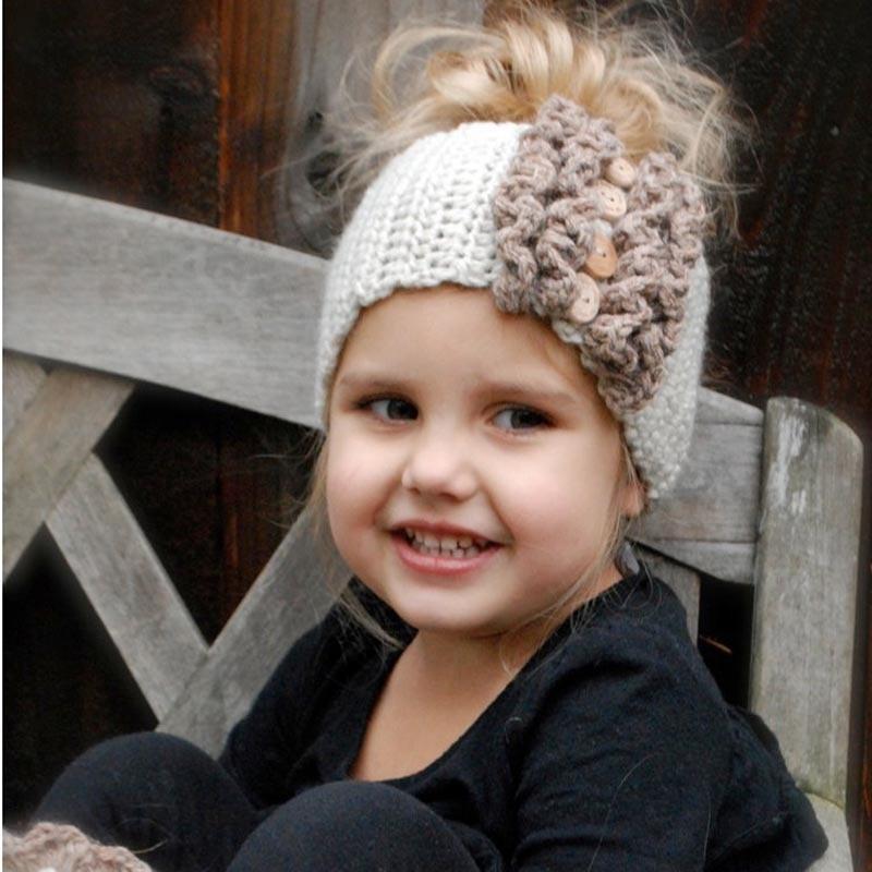 Hair Band Crochet Knitted Turban Kids Baby Children Infant Headwear Accessories