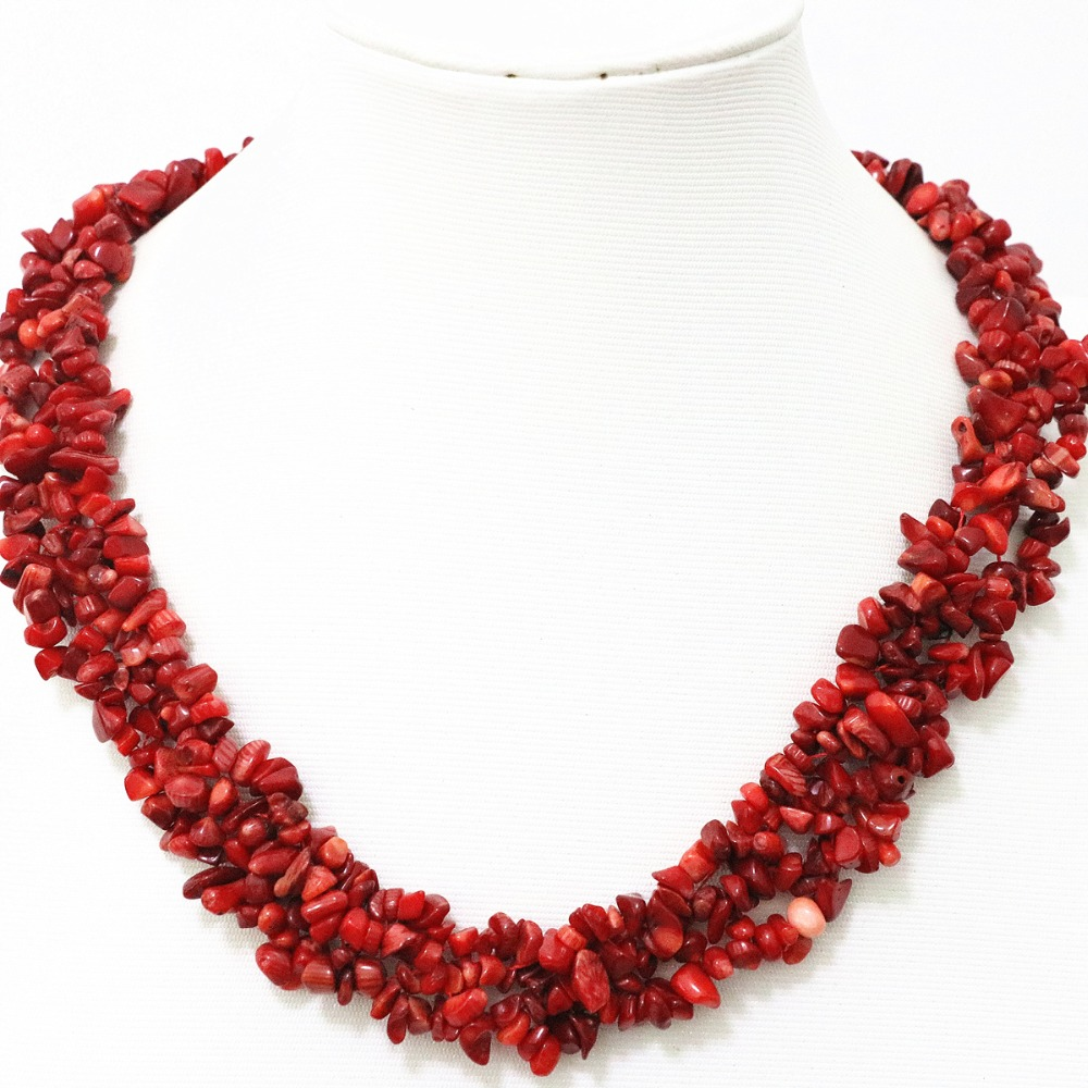 An Exquisite Coral Garnet Pearls Woman Pendant Neklace*****.