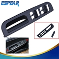 Black Master Window Switch Panel Bezel + Handle Trim Set For VW Jetta Golf MK4 Passat B5 1998-2004 Car Interior Accessory #9181
