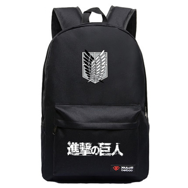 все цены на Fashion Cartoon Attack on Titan Backpack for Teenagers Student Schoolbag Shingeki no Kyojin Anime Cosplay Shoulders Bag