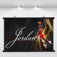 Michael Jordan NBA Basketball Poster Wall Paintings Wall Sticker Banners Hanging Waterproof Cloth Art Decor 40X60