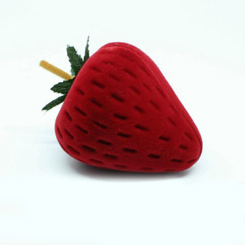 Jewery Organizer Box Rings/Earrings Storage Small Gift Box DIY craft Display Case Package Wedding/etc Strawberry shaped wh