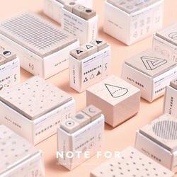 Творческий узор деревянный штамп геометрический ясно марки волна DIY Пуля журнал для Скрапбукинг основные украшения школы канцелярские