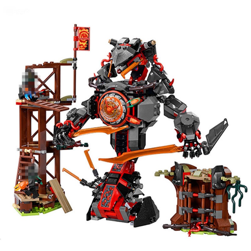 StZhou LEPIN Ninjagoed Dawn of Iron Doom Building Blocks Sets Kits Bricks Movie Model Ninja Kids Toys Marvel аудиомагнитола bbk bx193u белый зеленый bbk bx193u белый зеленый