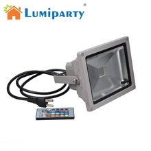 LumiParty 16 Color Tones RGB LED Flood Light for Illumination and Beautification of Home Hotel Garden Landscape(China)