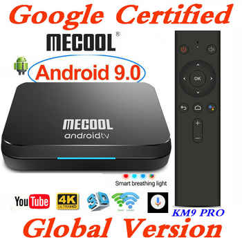 Google Certified MECOOL Androidtv Smart TV Box Android 9.0 KM9 PRO ATV 2G/16G Amlogic S905X2 4K 2.4G/5G Wifi KM3 TV BOX 4G/128G - DISCOUNT ITEM  25% OFF All Category