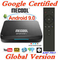Google Certified MECOOL Androidtv TV Box Android 9.0 KM9 PRO ATV 2G/16G Amlogic S905X2 4K 2.4G/5G Wifi KM3 TV BOX 4G/64G/128G