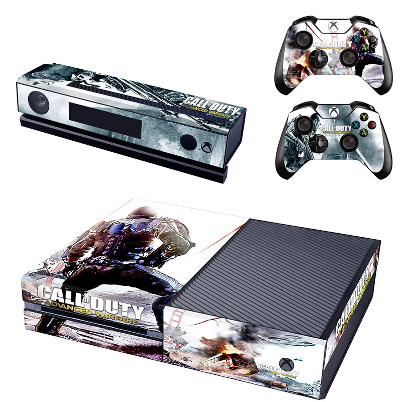 Call of Duty Advanced Warfare Vinyl Skin Cover Stickers Decal For Xbox One Console & Kinect & 2 Controller
