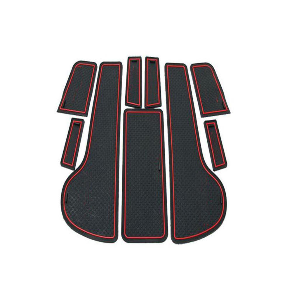 9 pz Stile Auto Interni Tappetino Antiscivolo Porta Scanalatura Pad Cuscino Tappetino di Gomma Misura Per Chevrolet CRUZE Berlina Hatchback 2009-2014
