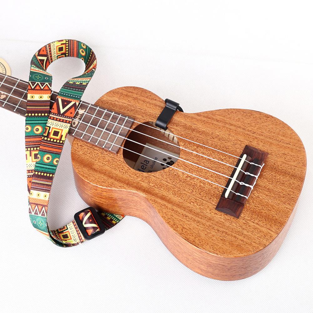 Etnische stijl ukelele riem duurzaam verstelbare print lint clip-on - Muziekinstrumenten - Foto 4