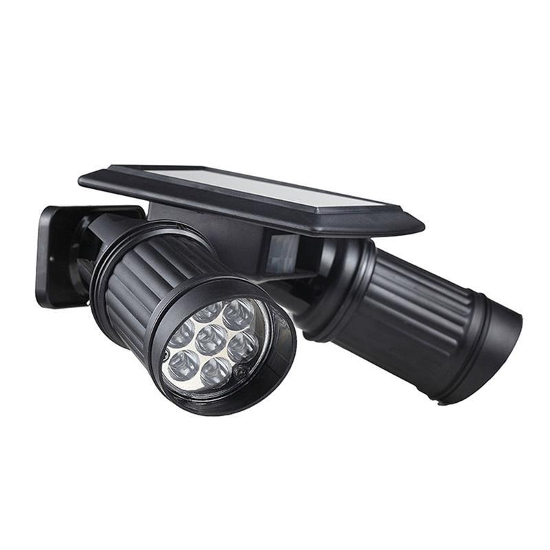 Qualifiziert Wasserdicht 14 Led Wand Lampe Dual Kopf Scheinwerfer Einstellbar Wand Licht Für Hof Garten Einfahrt Mit Pir Motion Sensor