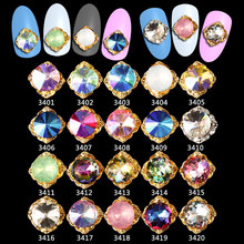 100PCS Japanese nail jewelry decoration alloy Laser diamond rhinestones 3d art charm metal glitter ***3401-3420