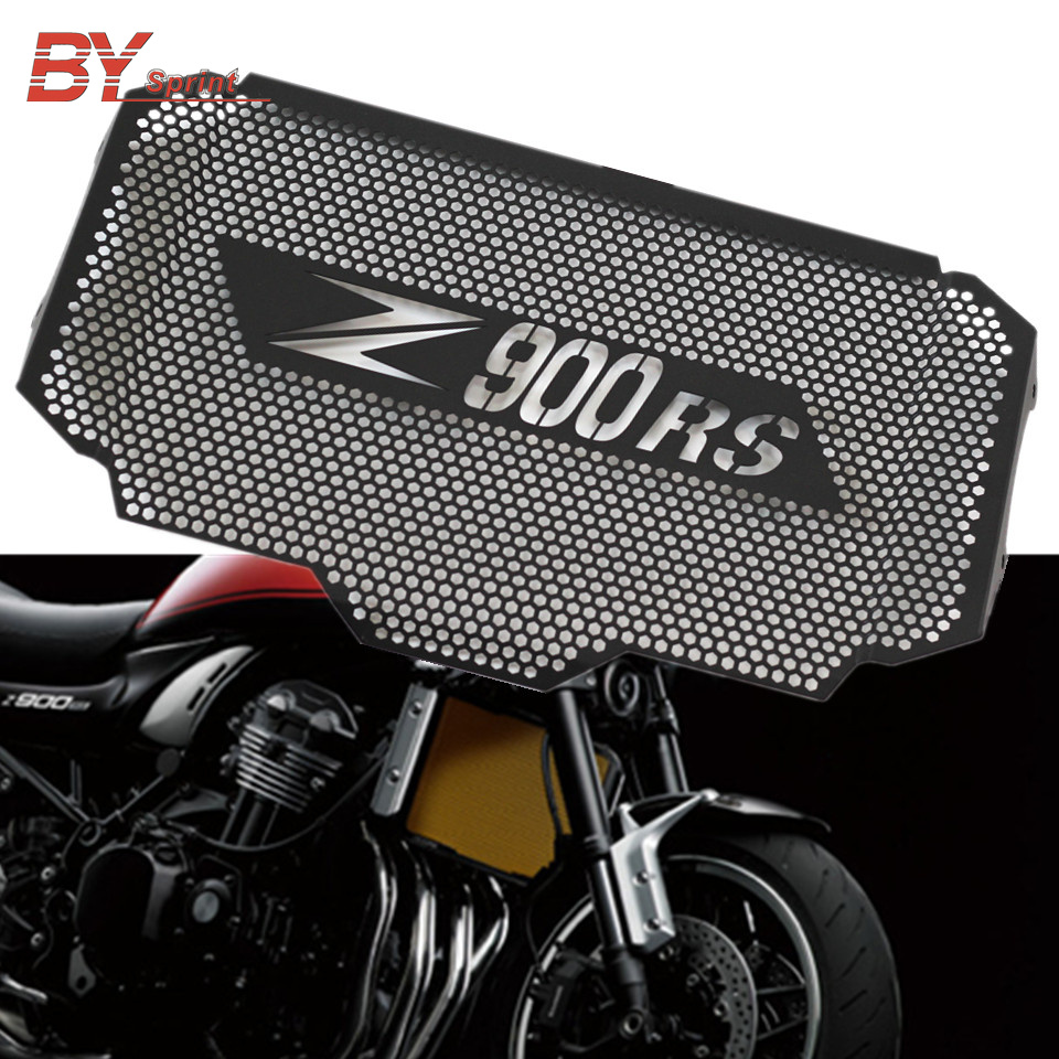 Z900RS Motorcycle NEW Black Radiator Grille Guard Cover Protectorn For Kawasaki Z900 RS Z 900RS 2017
