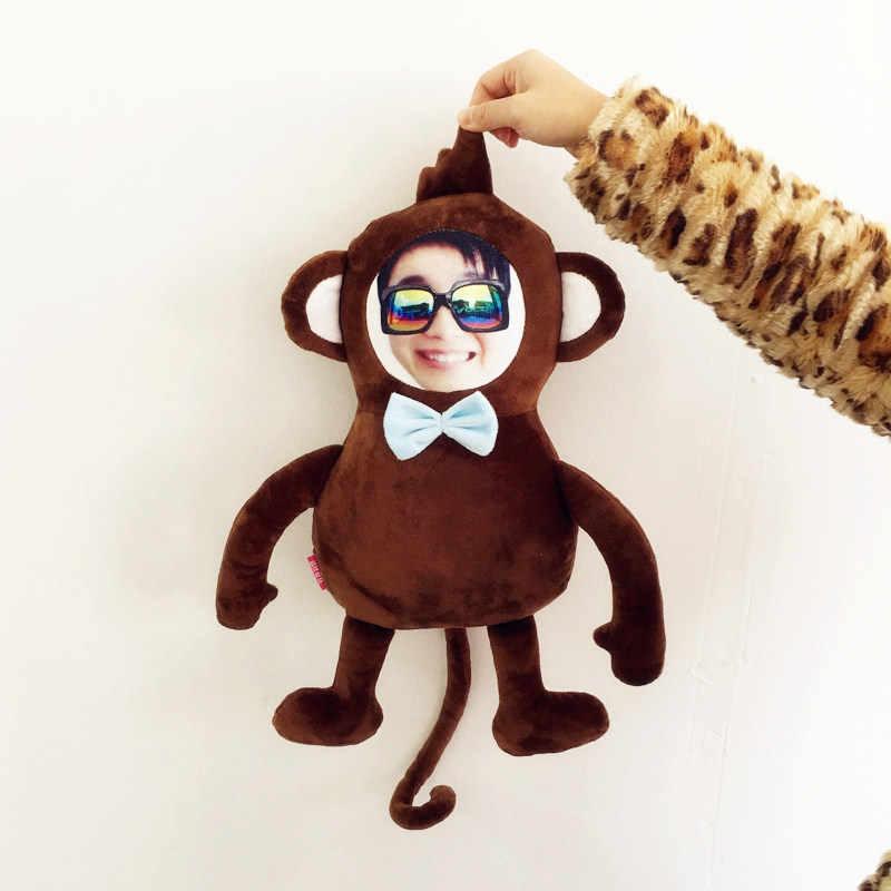 Реальные куклы на заказ кукла обезьянка фотографии детские куклы пользовательские diy подарок на день рождения пользовательские куклы подушка гуманоид подушки Рождество