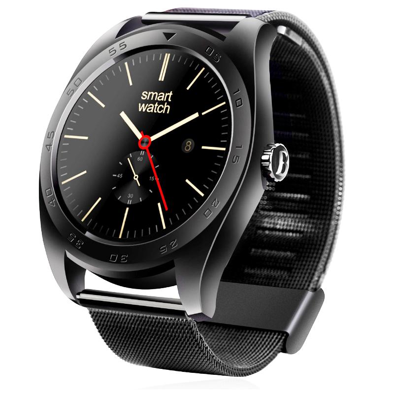 Prix pour Nouveau k89 smart watch 1.22 pouces ips écran rond smartwatch moniteur de fréquence cardiaque bluetooth montre pour iphone ios android smartphones