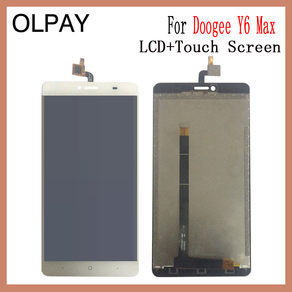 OLPAY 6 5 New Original For Doogee Y6 Max CellPhone LCD Display Touch Screen Digitizer Assembly