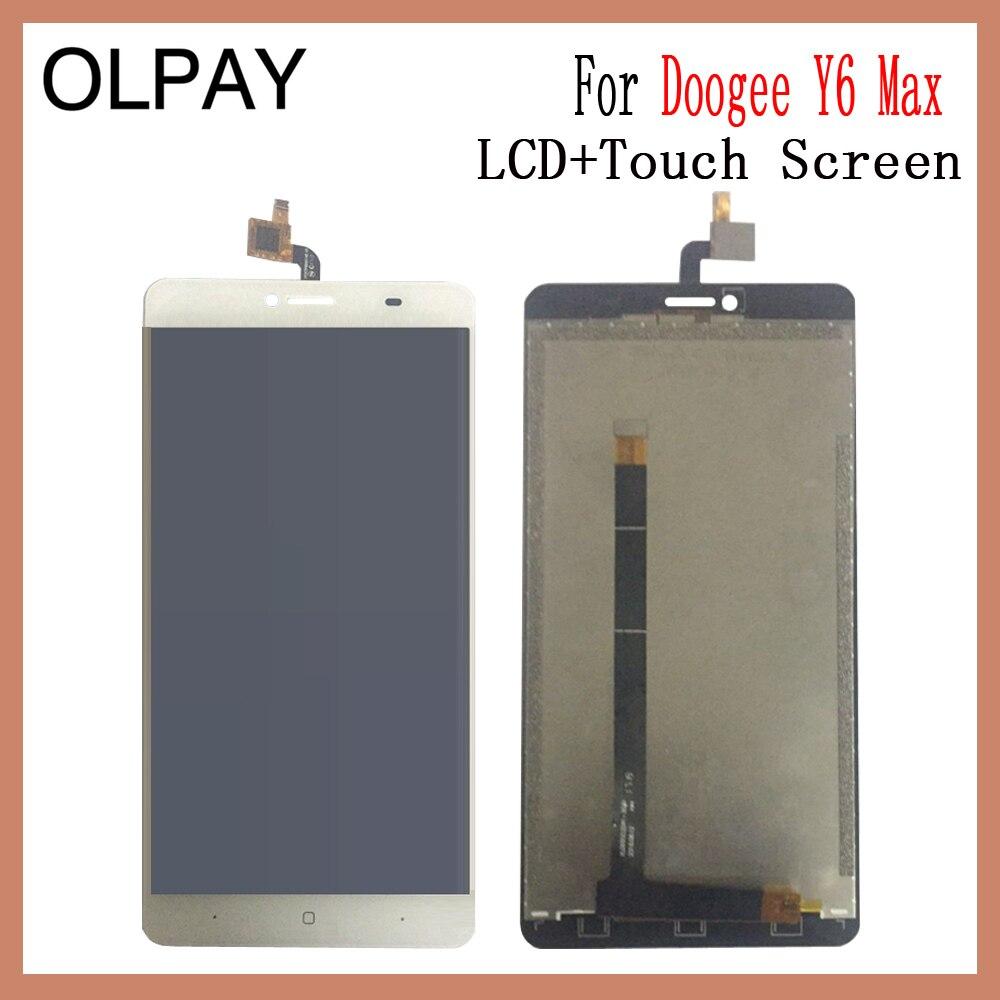 OLPAY 6,5 ''новый оригинальный Для Doogee Y6 Max Мобильный телефон ЖК дисплей + кодирующий преобразователь сенсорного экрана в сборе Замена стекла Бесплатные инструменты