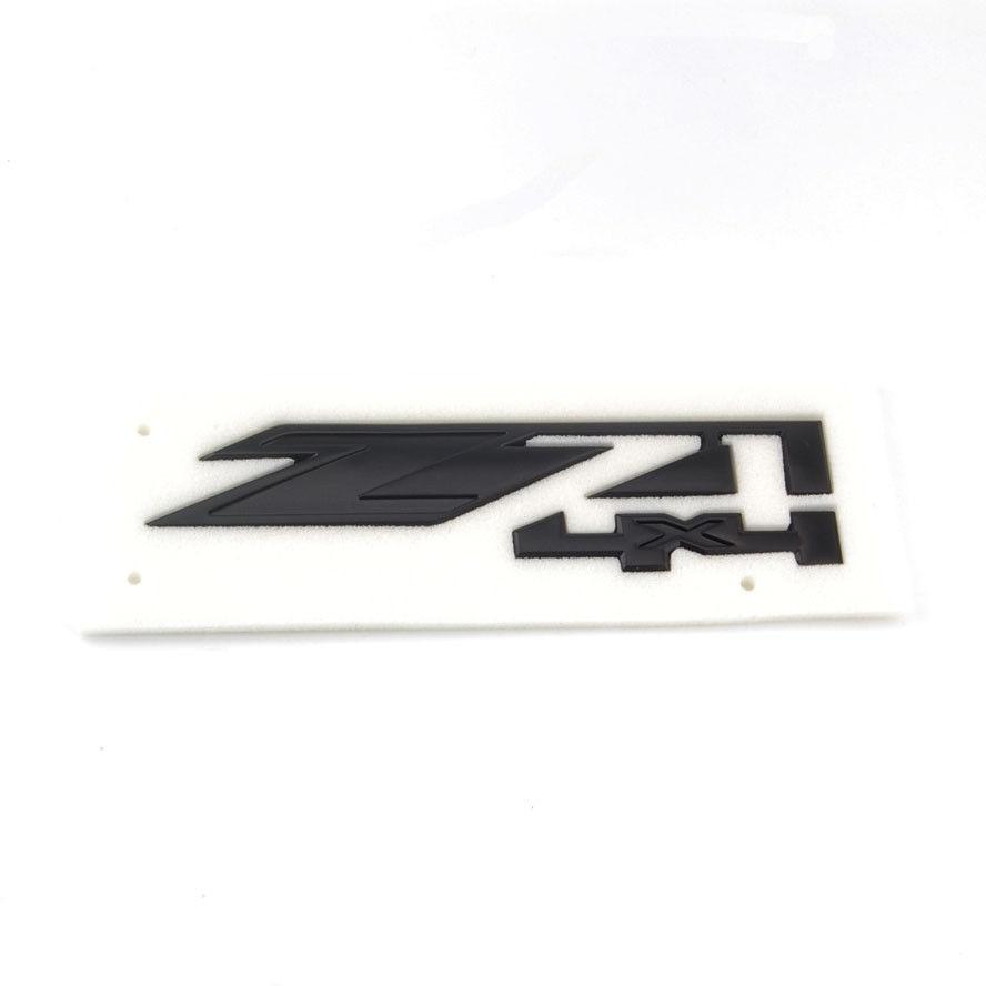 1x black abs z71 4x4 car rear boot emblem sticker decal for chevrolet gmc chevy silverado