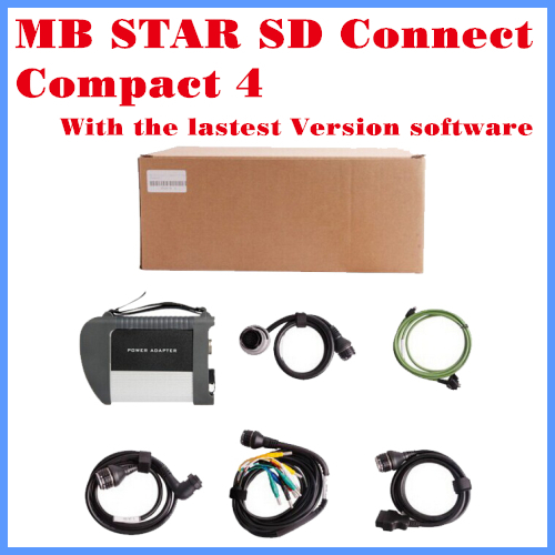 Best quality Diagnostic Tool C4 MB SD connect compact 4 SD C4 connect With WIFI Card with full cable 2016.3 software