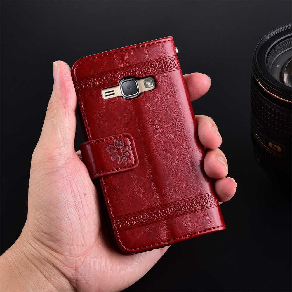 Винтажный кожаный чехол-бумажник для Samsung Galaxy J1 2016 J120 J120F SM-J120F чехол с отделением для карт мягкий чехол из ТПУ с подставкой