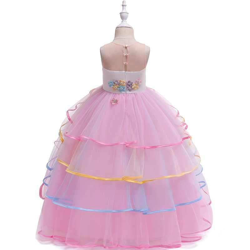 Бальное платье для девочек; свадебное платье для причастия; пышные платья для девочек; пышные платья принцессы для детей; Платья с цветочным узором для девочек; 2019 TS1633